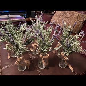 Lavender Faux Floral with Vases (6)